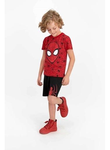 Spider-Man Spider Man Lisanslı Jel Eyes Kırmızı Erkek Çocuk Bermuda Takım Kırmızı